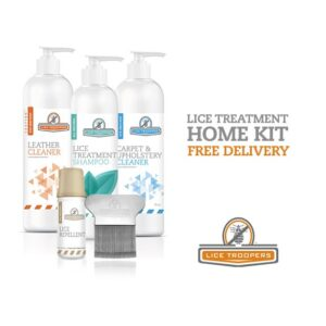 Lice Troopers' complete lice treatment home kit that comes with free delivery.